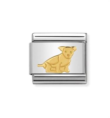 Buy Nomination Gold Seated Dog Charm