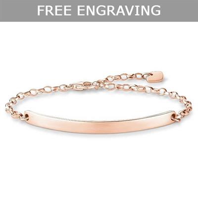 Buy Thomas Sabo Love Bridge Classic Bracelet Rose-Gold Plated