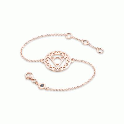 Buy Daisy Throat Chakra Rose Gold Chain Bracelet