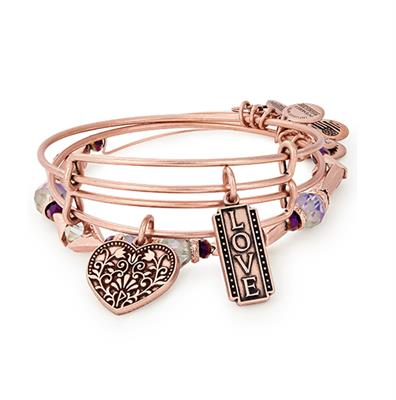 Buy Alex and Ani Love Set of 3 Bangles