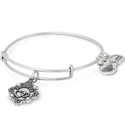 Buy Alex and Ani Because I Love You Daughter Bangle in Rafaelian Silver