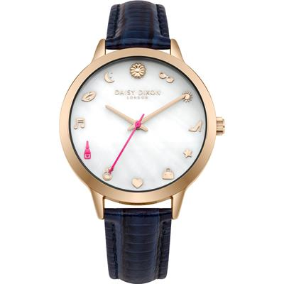 Buy Daisy Dixon Lexi Navy Leather Watch