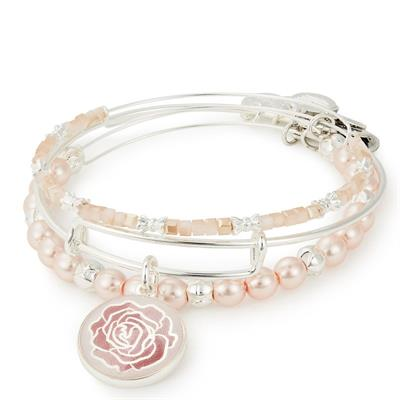 Buy Alex and Ani Rose Art Infusion Set of 3 Bangles