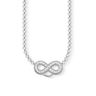 Buy Thomas Sabo Infinity CZ Silver Charm Necklace