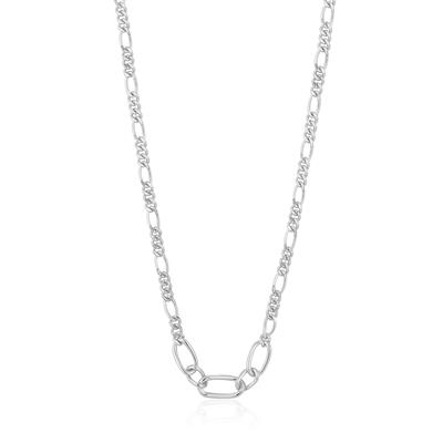 Buy Ania Haie Chain Reaction Silver Figaro Chain Necklace