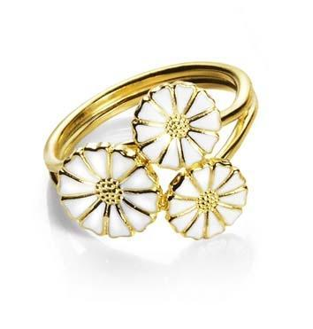 Buy Lund Gold Daisy Cluster Ring Size 52