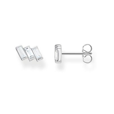 Buy Thomas Sabo Silver Baguette Stone Studs