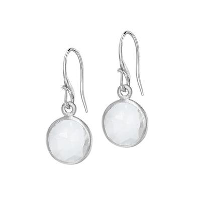 Buy Dower and Hall Silver Rock Crystal Drop Earrings