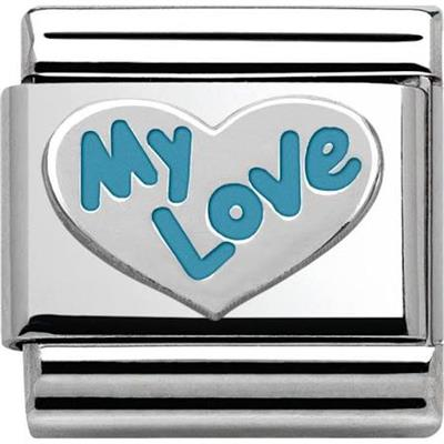 Buy Nomination Silver and Blue My Love Charm