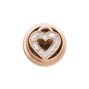 Buy Nikki Lissoni Rose Gold Love Keeper Ring Coin