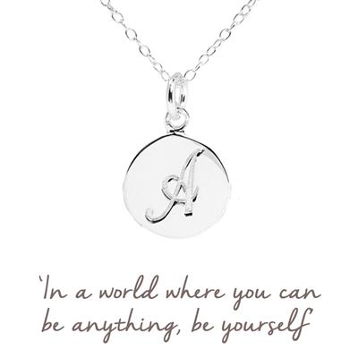 Buy A Mantra Initial Necklace