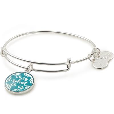 Buy Alex and Ani It Is What It Is Bangle in Shiny Silver