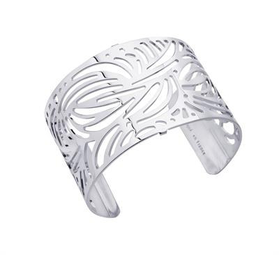 Buy Les Georgettes Silver Aloe Wide Cuff