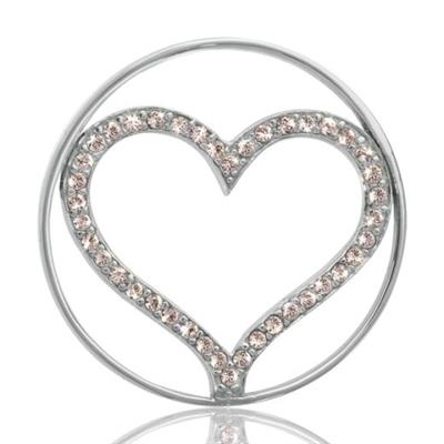 Buy Nikki Lissoni Silver Sparkling Heart Coin 33mm