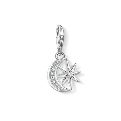 Buy Thomas Sabo CZ Moon and Star Charm Pendant