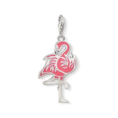 Buy Thomas Sabo Silver and Pink Flamingo Charm