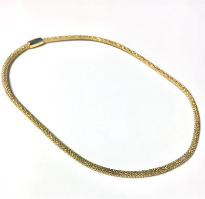 Buy Pure Attraction Mini Mesh Necklace in Yellow Gold