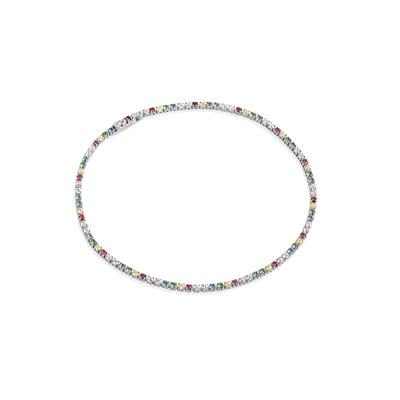 Buy Sif Jakobs Sterling Silver Ellera Bracelet with Multicoloured Zirconia - 17cm