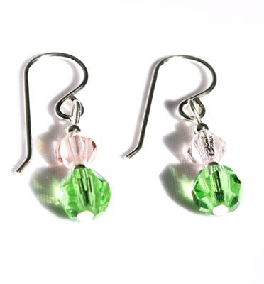 Buy Brave Green Crystal Drop Earrings