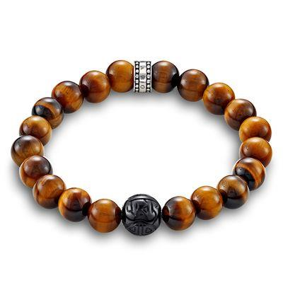 Buy Thomas Sabo Rebel At Heart Men's Tiger's Eye Bracelet 21cm