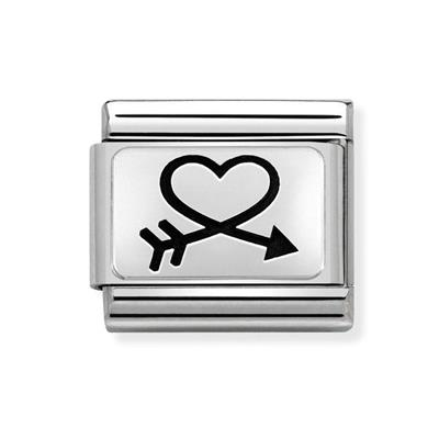 Buy Nomination Silver Heart in Arrow Charm