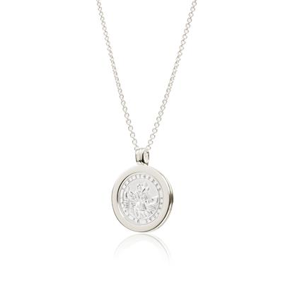 Buy Daisy Sterling Silver St Christopher Halo Necklace