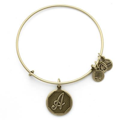 Buy Alex and Ani A Initial Bangle in Rafaelian Gold