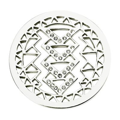 Buy Nikki Lissoni Aztec Beauty Silver Coin 33mm