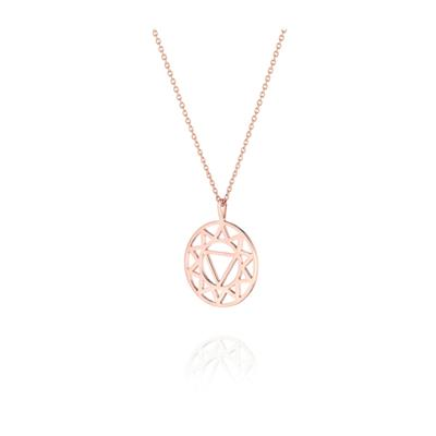 Buy Daisy Solar Plexus Chakra Rose Gold Long Necklace