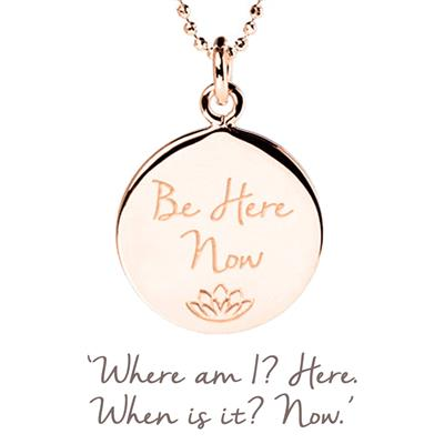 Buy Mantra Be Here Now Necklace in Rose Gold