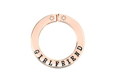 Buy Lily and Lotty Rose Gold 'GIRLFRIEND' Scripted Pendant
