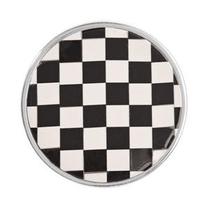 Buy Nikki Lissoni Silver Black and White Mosaic Coin 33mm