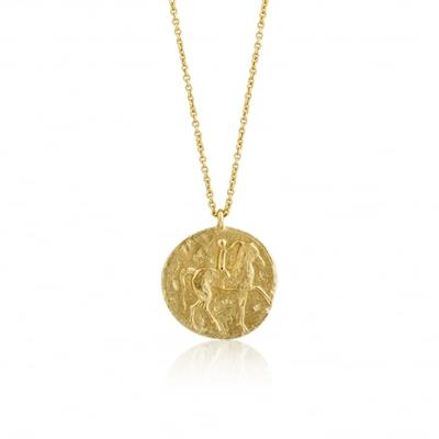 Buy Ania Haie Gold Roman Rider Medallion Necklace