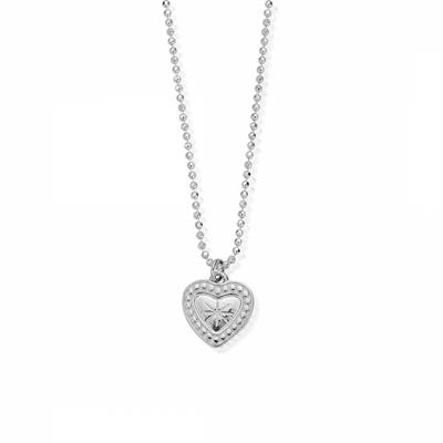 Buy ChloBo Diamond Cut Chain With Star Heart Pendant