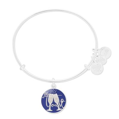 Buy Alex and Ani Let's Toast Bangle in Shiny Silver