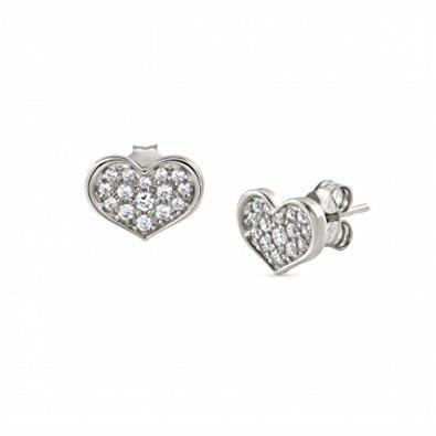 Buy Nomination Pave Heart Earrings