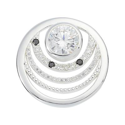 Buy Nikki Lissoni Silver Natural Beauty Crystal Coin 23mm