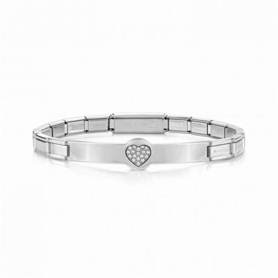 Buy Nomination Silver CZ Trendsetter Heart Bracelet