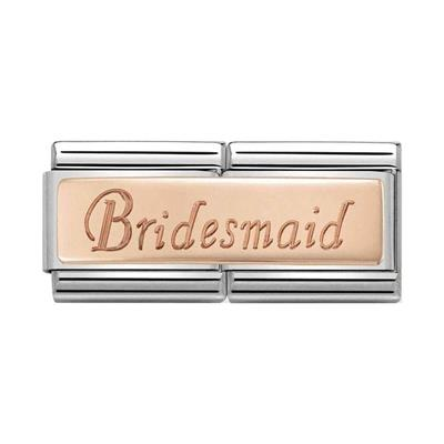 Buy Nomination Rose Gold Bridesmaid Double Charm
