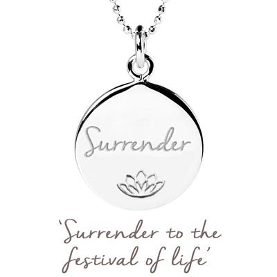 Buy Mantra Persia Lawson Surrender Disc Necklace in Sterling Silver