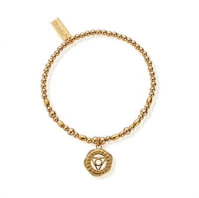 Buy ChloBo Cherabella Throat Chakra Gold Plated Bracelet