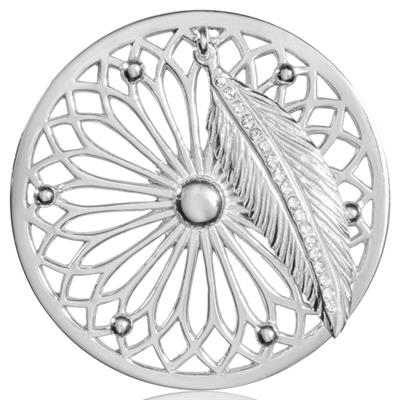 Large Silver Dreamcatcher Coin
