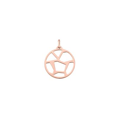 Buy Les Georgettes Medium Rose Gold Round Girafe Pendant
