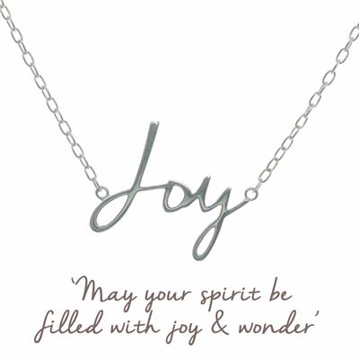 Buy Joy Script Mantra Necklace in Sterling Silver