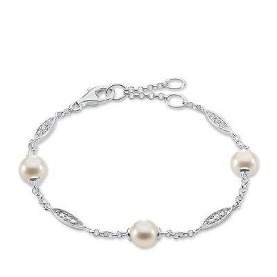 Buy Thomas Sabo Pearl and Silver Sparkling Bracelet