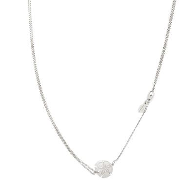 Buy Alex and Ani Sand Dollar Precious Pull Chain Necklace in Silver