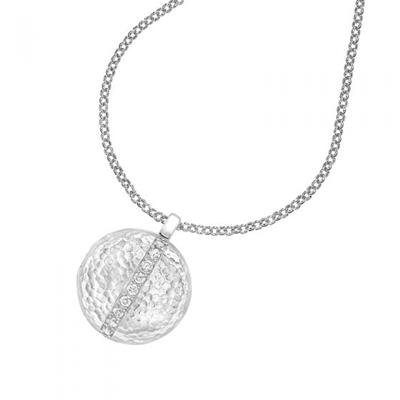 Buy Dower and Hall Sterling Silver and White Sapphire Round Lumiere Locket