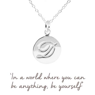 Buy D Mantra Initial Necklace