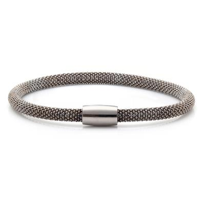 Buy Pure Attraction Medium Black Mesh Bracelet