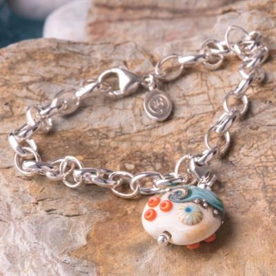 Buy Beach Art Glass Sand & Sea Bracelet